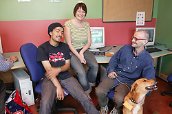 Service Users relaxing at On Line to Resettlement,