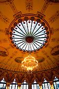 The Circle dining room with its hand painted ceilings at the Breakers Hotel in Palm Beach, Florida.
