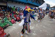"""Feast of """"Mamacha del Carmen"""" of Paucartambo. Guerrilla. The K'achampa seem expel fumes and dust"""