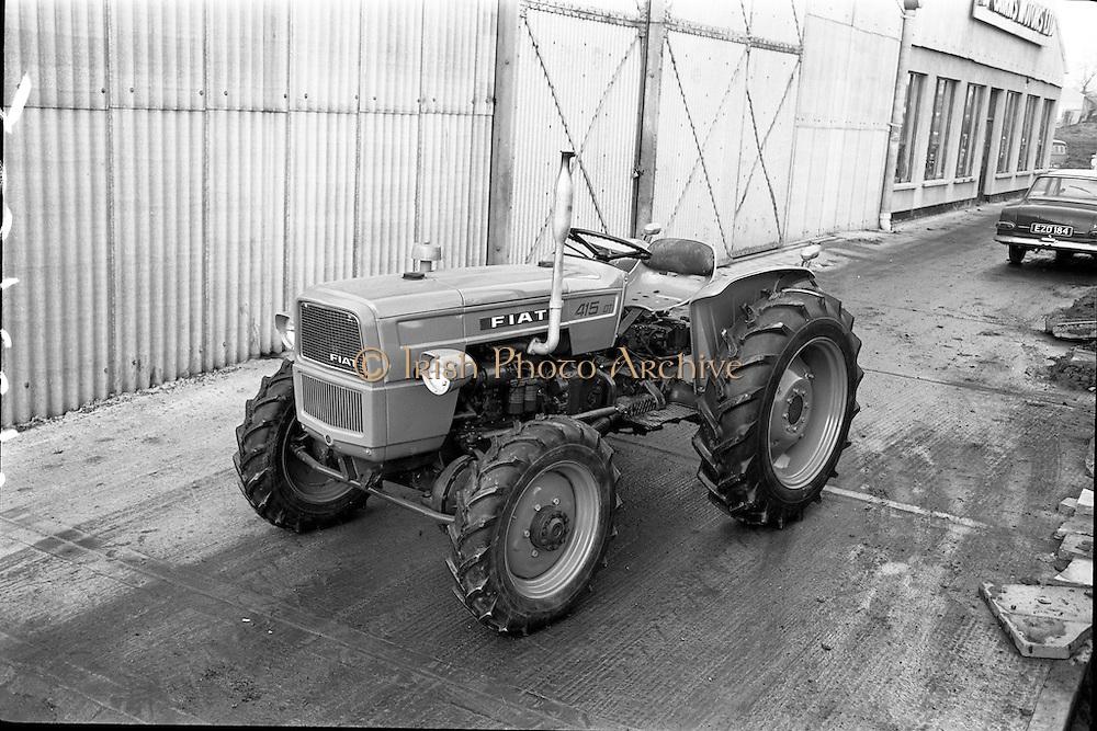 21/12/1965.12/21/1965.21 December 1965.Fiat tractors at McCairns, Santry.