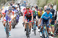 Nairo Quintana (COL, Movistar), Simon Yates (GBR, Mitchelton Scott) and Thibaut Pinot (FRA, Groupama FDJ) during the 73th Edition of the 2018 Tour of Spain, Vuelta Espana 2018, Stage 15 cycling race, 15th stage Ribera de Arriba - Lagos de Covadonga 178,2 km on September 9, 2018 in Spain - Photo Luis Angel Gomez/ BettiniPhoto / ProSportsImages / DPPI