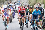 Nairo Quintana (COL, Movistar), Simon Yates (GBR, Mitchelton Scott) and Thibaut Pinot (FRA, Groupama FDJ) during the 73th Edition of the 2018 Tour of Spain, Vuelta Espana 2018, Stage 15 cycling race, 15th stage Ribera de Arriba - Lagos de Covadonga 178,2 km on September 9, 2018 in Spain - Photo Luis Angel Gomez/ BettiniPhoto / ProSportsImages / DPPI