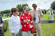 SOPHIE HICKS; EDIE CAMPBELL;RODERICK CAMPBELL, Glorious Goodwood. Ladies Day. 28 July 2011. <br /> <br />  , -DO NOT ARCHIVE-© Copyright Photograph by Dafydd Jones. 248 Clapham Rd. London SW9 0PZ. Tel 0207 820 0771. www.dafjones.com.