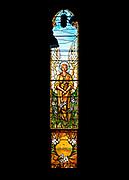 Window 7 on plan.<br /> <br /> Saint Saviour's Episcopal Church, Bar Harbor, Maine.