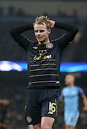 Gary Mackay-Steven of Celtic reacts after he failed to score in the last few minutes during the Champions League Group C match at the Etihad Stadium, Manchester. Picture date: December 6th, 2016. Pic Simon Bellis/Sportimage