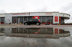 """A view of the ground before the Premier League match at St Mary's, Southampton. PRESS ASSOCIATION Photo. Picture date: Sunday August 12, 2018. See PA story SOCCER Southampton. Photo credit should read: Andrew Matthews/PA Wire. RESTRICTIONS: EDITORIAL USE ONLY No use with unauthorised audio, video, data, fixture lists, club/league logos or """"live"""" services. Online in-match use limited to 120 images, no video emulation. No use in betting, games or single club/league/player publications."""