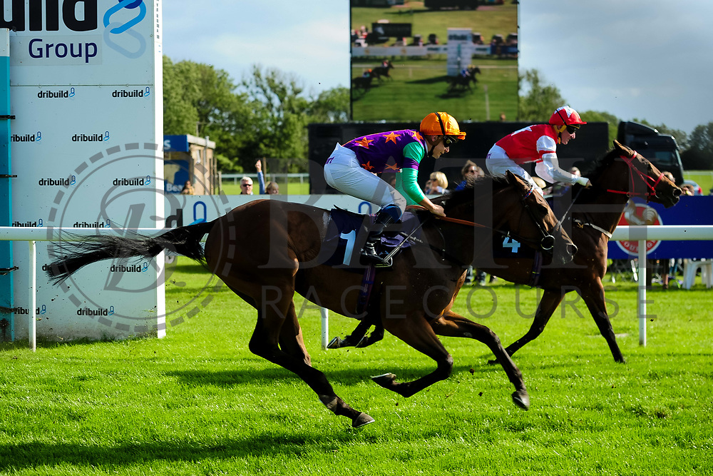 Michaels Choice ridden by Ryan Tate and trained by William Jarvis in the Aston Manor Cider Handicap (Class 5) race. Bluebell Time ridden by J F Egan and trained by Malcolm Saunders in the Aston Manor Cider Handicap (Class 5) race.  - Ryan Hiscott/JMP - 17/08/2019 - PR - Bath Racecourse - Bath, England - Race Meeting at Bath Racecourse