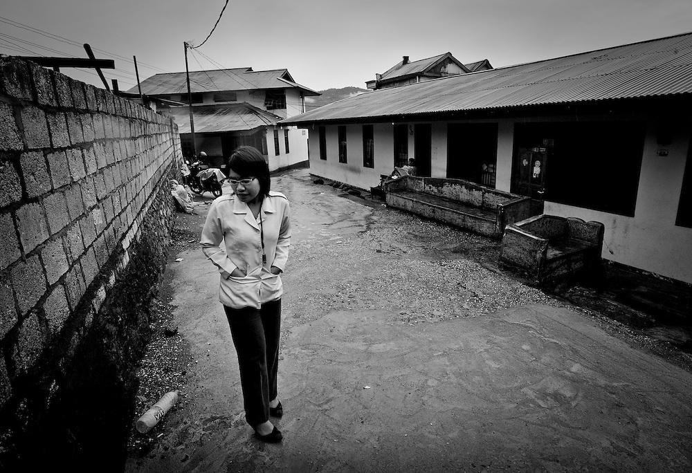 A nurse checks on Brothel Workers of Tanjung Elmo in Jayapura.