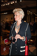 INGA KOLOSSOV at the preview of LAPADA Art and Antiques Fair. Berkeley Sq. London. 23 September 2014.