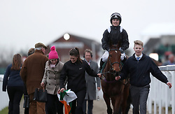 Jockey Katie Walsh on board Relegate after wining the Weatherby's Champion Bumper race during Ladies Day of the 2018 Cheltenham Festival at Cheltenham Racecourse. PRESS ASSOCIATION Photo. Picture date: Wednesday March 14, 2018. See PA story RACING Cheltenham. Photo credit should read: David Davies/PA Wire. RESTRICTIONS: Editorial Use only, commercial use is subject to prior permission from The Jockey Club/Cheltenham Racecourse.