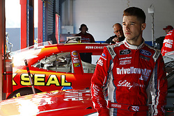 April 27, 2018 - Talladega, Alabama, United States of America - Ryan Reed (16) hangs out in the garage during practice for the Spark Energy 300 at Talladega Superspeedway in Talladega, Alabama. (Credit Image: © Chris Owens Asp Inc/ASP via ZUMA Wire)