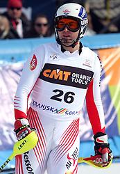 Patrick Bechter at 9th men's slalom race of Audi FIS Ski World Cup, Pokal Vitranc,  in Podkoren, Kranjska Gora, Slovenia, on March 1, 2009. (Photo by Vid Ponikvar / Sportida)