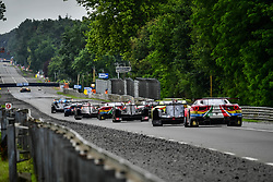 June 17, 2018 - Le Mans, France - 51 AF CORSE (ITA) FERRARI 488 GTE EVO GTE PRO ALESSANDRO PIER GUIDI (ITA) JAMES CALADO (GBR) DANIEL SERRA  (Credit Image: © Panoramic via ZUMA Press)