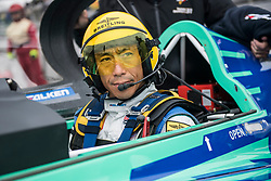 Yoshihide Muroya of Japan prepares to take off during race day at the eighth round of the Red Bull Air Race World Championship at Indianapolis Motor Speedway, United States on October 15, 2017. // Joerg Mitter / Red Bull Content Pool // P-20171015-01403 // Usage for editorial use only // Please go to www.redbullcontentpool.com for further information. //