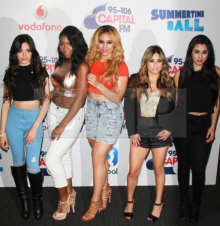 © London News Pictures. Fifth Harmony, Capital FM Summertime Ball, Wembley Stadium, London UK, 06 June 2015, Photo by Brett D. Cove /LNP