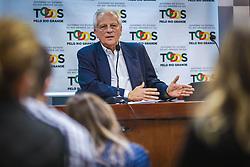 O vice-governador, José Paulo Cairoli durante coletiva de imprensa sobre a chegada da Força Nacional no Estado do Rio Grande do Sul. FOTO: Jefferson Bernardes/ Agência Preview