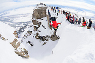 Veronica Paulsen competes the first female backflip into Corbet's Couloir at Kings and Queens of Corbet's at Jackson Hole Mountain Resort in Jackson, WY, USA on 11 February, 2020.