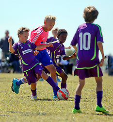 18 October 2015. Gulfport, Mississippi.<br /> New Orleans Jesters Youth Academy.<br /> U10 Jesters Team Purple 1 - FC Dominators 1.  Tough game against great opposition.<br /> Photo©; Charlie Varley/varleypix.com