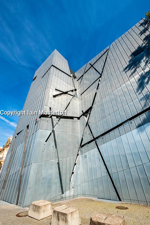 View of the Jewish Museum designed by Daniel Libeskind in Kreuzberg, Berlin, Germany