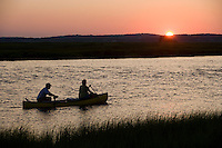 Sunset at Back River and Great Island, near the mouth of the Connecticut River, Old Lyme, CT