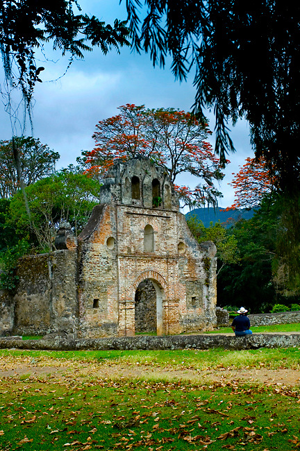 Costa Rica, Ujarras, Province of Cartago, Ruins of the Church of Ujarras, 1693 Iglesia de Nuestra Senora Ruins, Orosi Valley, Spanish Colonial Architecture, Costa Rica's Oldest Church, National Monument