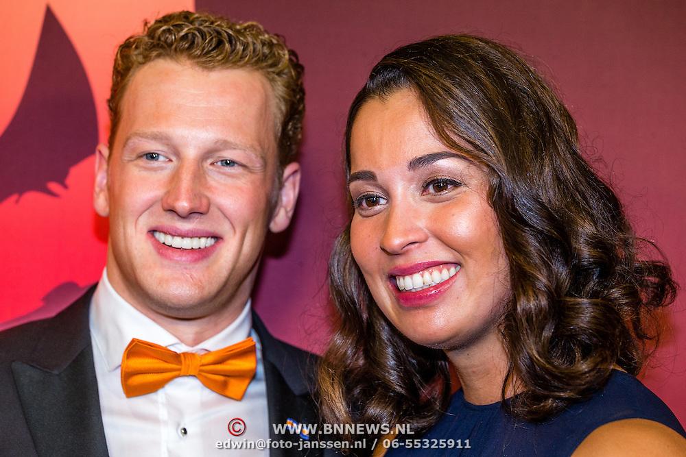 NLD/Amsterdam/20161221 - NOC*NSF Sportgala 2016, Ranomi Kromowidjojo en partner Ferry Weertman