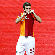 Galatasaray's Emre Colak during their Turkish superleague soccer derby match Galatasaray between Trabzonspor at the AliSamiYen spor kompleksi TT Arena in Istanbul Turkey on Saturday, 18 May 2013. Photo by Aykut AKICI/TURKPIX