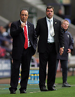 Photo: Paul Thomas.<br /> Bolton Wanderers v Liverpool. The Barclays Premiership. 30/09/2006.<br /> <br /> Sam Allardyce Bolton manager (R), Rafael Benitez Liverpool manager.