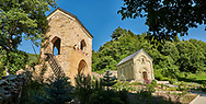 Pictures and images of the historic medieval Gate house and chapel of Kintsvisi Monastery Georgian Orthodox Monastery complex, Shida Kartli Region, Georgia (country).