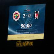 Fenerbahce's and Besiktas's during their Turkish superleague soccer derby match Fenerbahce between Besiktas at Sukru Saracaoglu stadium in Istanbul Turkey on Sunday 05 February 2012. Photo by TURKPIX