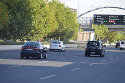 September 4, 2017 - Ankara, Turkey - Several cars are pictured on the Istanbul-Ankara road as people return to their homes after the ten-day holiday for Muslims' sacrificial festival Eid al-Adha in Ankara, Turkey on September 04, 2017. (Credit Image: © Altan Gocher/NurPhoto via ZUMA Press)