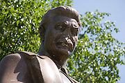 Vandalised staue of Statue of Stalin in Sculpture Park Moscow Russia