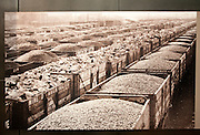 Old photo of goods wagons Great Western Railway 'Steam' museum, Swindon, Wiltshire, England, UK