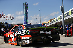 November 18, 2017 - Homestead, Florida, United States of America - November 18, 2017 - Homestead, Florida, USA: Martin Truex Jr (78) takes to the track to practice for Ford EcoBoost 400 at Homestead-Miami Speedway in Homestead, Florida. (Credit Image: © Justin R. Noe Asp Inc/ASP via ZUMA Wire)