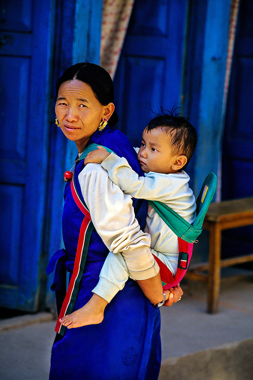 Mother and child, Kathmandu, Nepal