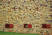 Peter Wentz Farmstead Society, Stone Barn Detail, National Historic Registry, 18th century Pennsylvania farm, Montgomery Co., PA