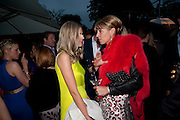 DONNA AIR; ASSIA WEBSTER, The Summer party 2011 co-hosted by Burberry. The Summer pavilion designed by Peter Zumthor. Serpentine Gallery. Kensington Gardens. London. 28 June 2011. <br /> <br />  , -DO NOT ARCHIVE-© Copyright Photograph by Dafydd Jones. 248 Clapham Rd. London SW9 0PZ. Tel 0207 820 0771. www.dafjones.com.