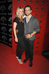 Restaurateur TOM ETRIDGE and KRISTIN HALL at the opening of the Buddha Bar, Victoria Embankment, London on 8th September 2008.<br /> <br /> NON EXCLUSIVE - WORLD RIGHTS
