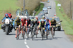 March 30, 2018 - Vitre, France - Jerome Cousin, Paul Ourselin (Direct Energie), Anthony Delaplace (Fortuneo-Samsic), Loic Chetout  (Credit Image: © Panoramic via ZUMA Press)