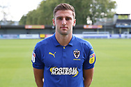AFC Wimbledon defender Ben Purrington (3) in home shirt during the EFL Sky Bet League 1 match between AFC Wimbledon and Oxford United at the Cherry Red Records Stadium, Kingston, England on 29 September 2018.