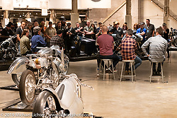 Bobby Haas led public question and answer session with builders during the Handbuilt Show. Austin, Texas USA. Saturday, April 13, 2019. Photography ©2019 Michael Lichter.