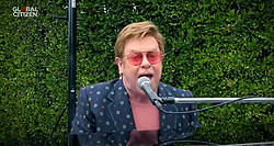 Capture - Sir Elton John seen performing live on a smartphone as One World Together At Home is streaming live on April 19, 2020. One World Together At Home is a campaign rallying funds for the COVID-19 Solidarity Response Fund for the World Health Organization. The WHO's mission for COVID-19 is to prevent, detect, and respond to the pandemic. Photo via ABACAPRESS.COM