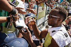 adidas Grand Prix Diamond League Track & Field: Jamaican fans mob Usain Bolt after race
