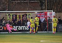 Football - 1919 / 2020  Dorking Wanderers v Fylde FA Trophy R3<br /> <br /> Neill Byrne of Fylde (4) scores goal no 3.<br /> <br /> <br /> Credit : Colorsport / Andrew Cowie