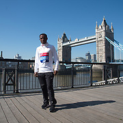 Keninisa Bekele - Elite men photocall - Virgin Money London Marathon at Tower Hill on 19 April 2018, London, UK.