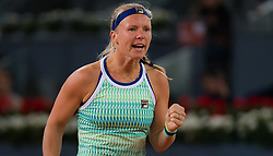 May 4, 2019 - Madrid, MADRID, SPAIN - Kiki Bertens of the Netherlands in action during her first-round match at the 2019 Mutua Madrid Open WTA Premier Mandatory tennis tournament (Credit Image: © AFP7 via ZUMA Wire)