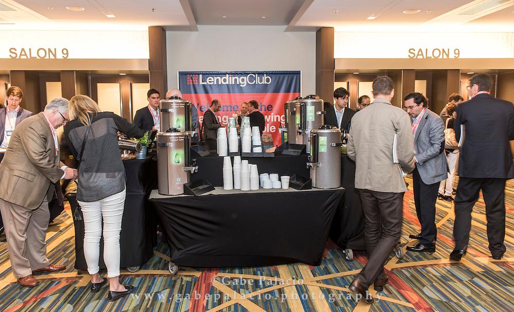 Prosper sponsored coffee break at LendIt USA 2016 conference in San Francisco, California, USA on April 11, 2016. (photo by Gabe Palacio)