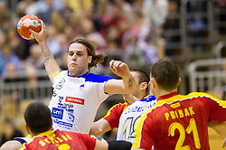 Dean Bombac of Slovenia during friendly handball match between National Teams of Slovenia and F.Y.R. of Macedonia on December 28, 2013 in Sports hall Polaj, Trbovlje, Slovenia. Photo by Vid Ponikvar / Sportida