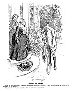 """Sorry He Spoke. Son of the House (somewhat of a scorcher—to wealthy old Aunt, who is on a visit). """"I shall be going through the Village, can I do anything for you, Auntie?"""" Aunt Jane. """"Thank you, dear. Take Fido with you. He needs a little run!"""""""