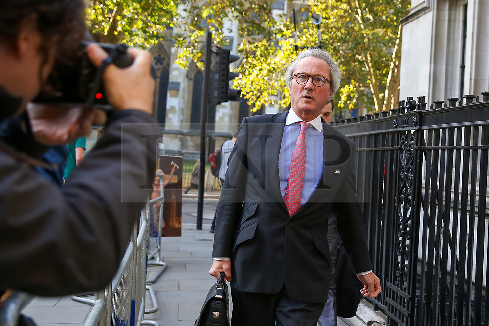 © Licensed to London News Pictures. 19/09/2019. London, UK. RICHARD KEEN QC - British lawyer and Conservative Party politician arrives at UK Supreme Court in London on the final day of the three day appeal hearing in the multiple legal challenges against the Prime Minister Boris Johnson's decision to prorogue Parliament ahead of a Queen's speech on 14 October. Since Tuesday 17 September, eleven instead of the usual nine Supreme Court justices have been hearing the politically charged claim that Boris Johnson acted unlawfully in advising the Queen to suspend parliament for five weeks in order to stifle debate over the Brexit crisis.It is the first time the Supreme Court has been summoned for an emergency hearing outside legal term time.Lady Hale, the first female president of the court who retires next January, has been preside the Brexit-related judicial review cases. Photo credit: Dinendra Haria/LNP